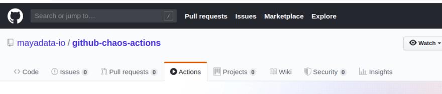 GitHub Chaos Actions : Fig 1