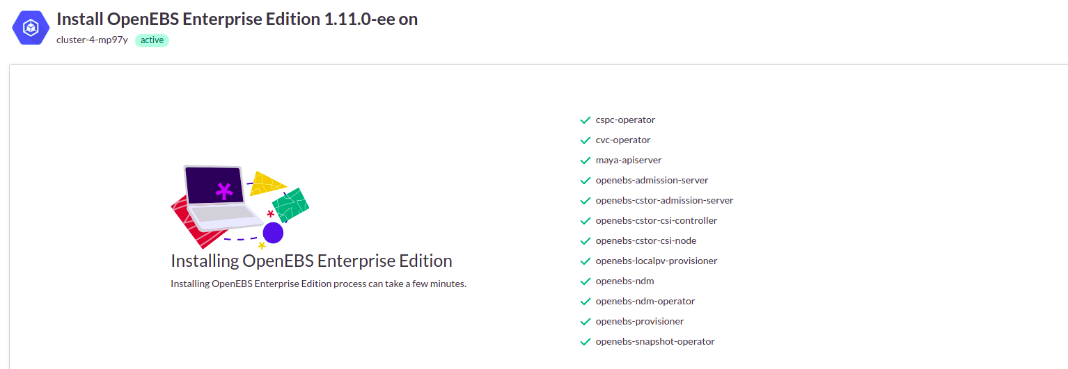Installin OpenEBS Enterprise Edition