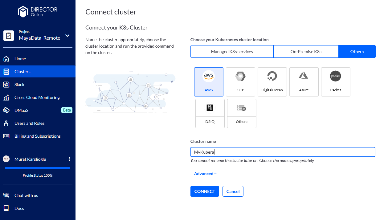 Connect to your Kubernetes cluster