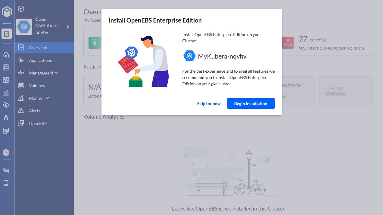 Install OpenEBS Enterprise Edition