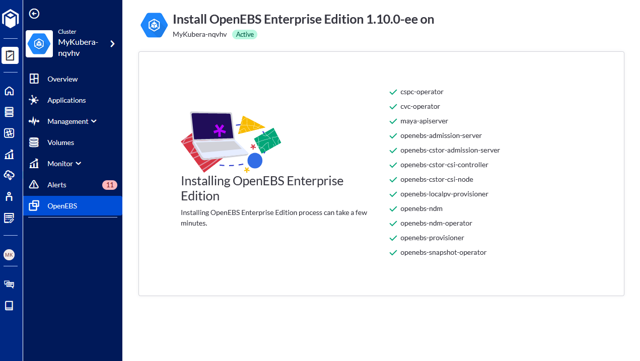 OpenEBS Enterprise Edition components are validated